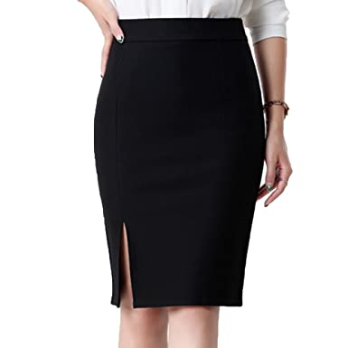 0d8b0121256f74 Image Unavailable. Image not available for. Colour: Juleya Women's Bodycon  Skirt - Fashion Elegant High Waist Slim Pencil ...
