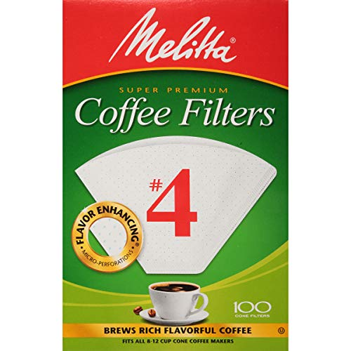 Melitta Cone Coffee Filter, White No. 4, 100 Count (Pack of 6) by Melitta (Image #7)