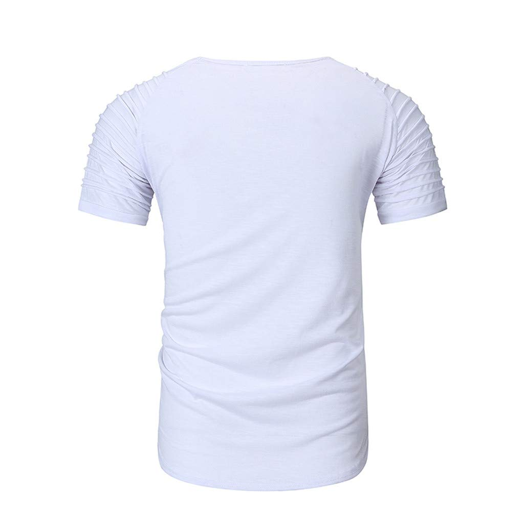 STORTO Mens Solid Workout Fit Tee Shirts Crew Neck Short Sleeve Casual Fashion Quick Dry Tops