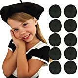 Black Beret Party Hats Bulk Lot of 10