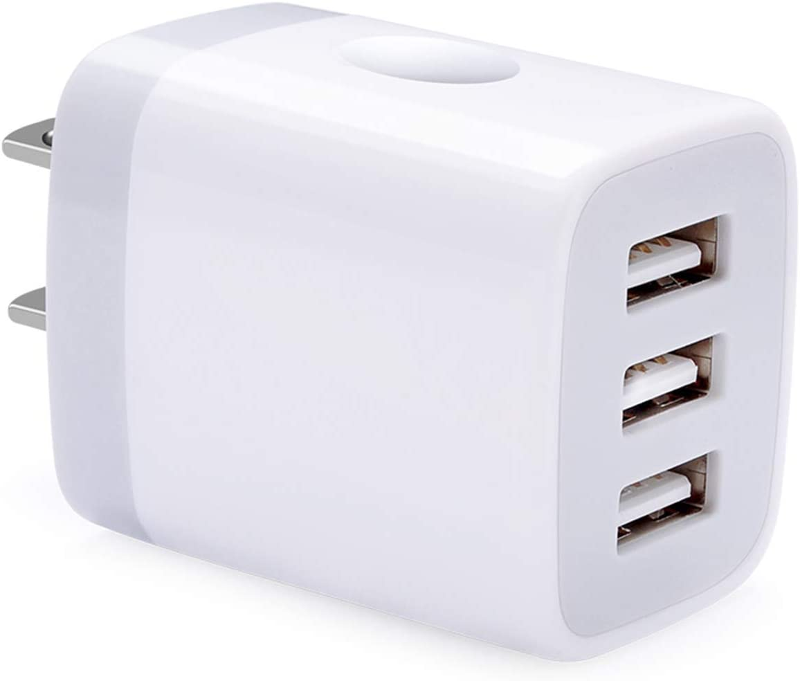 USB Charger Block, Hootek Charger Box 3.1A Multiple USB Wall Charger Plug Charging Cube Brick Compatible iPhone 11/XR/XS/X/8/7 Plus, iPad, Samsung Galaxy S20 FE S10 S9 S8 S7 Note20 Ultra 10+, LG, HTC