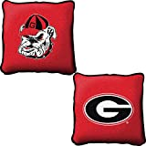 University Of Georgia Logo Pillow, 13 inches wide by 9 inches tall, and is woven from 100% cotton.