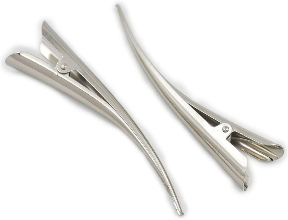 20 pcs 60mm 2 3//8 Alligator Beak Hair Clamp Clip Bows Prong Barrette Accessory by fujiyuan