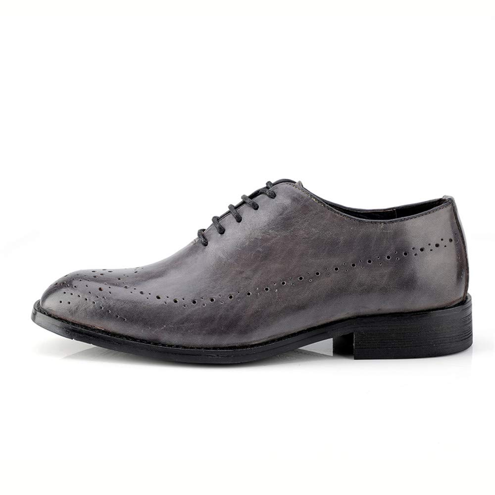 Sunny&Baby Herrenmode Oxford Casual British Style Brogue Klassische Retro Pinsel Farbe Brogue Style Schuhe Abriebfeste (Farbe : Grau, Größe : 47 EU) Grau d8aa66