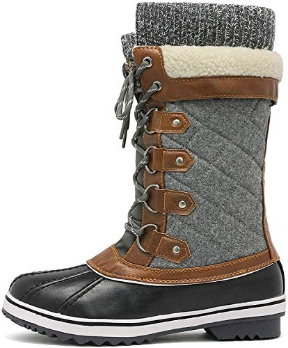 DREAM PAIRS Women's Mid-Calf Winter Snow Boots