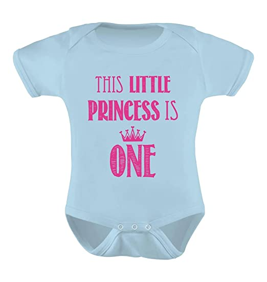 f2ea6904 TeeStars - This Little Princess Is One - 1 Year Old Lil Girl Gift Baby  Onesie