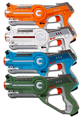 - Laser Tag Set Toys and Carrying Case for Kids Multiplayer 4 Pack