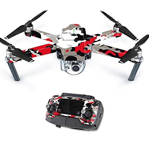 Mightyskins Skin for Dji Mavic Pro Quadcopter Drone, Red Camo, 0.01 Pound