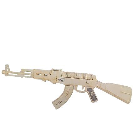 Woodcraft Maqueta de Madera Modelo AK 47: Amazon.es: Hogar