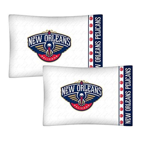- 2pc NBA New Orleans Pelicans Pillowcase Set Basketball Team Logo Bedding Pillow Covers