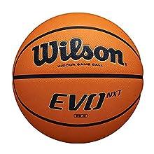 Wilson EVO NEXT GAME, Balón de baloncesto, Interior, Material compuesto de textura granulada, WTB0901XB