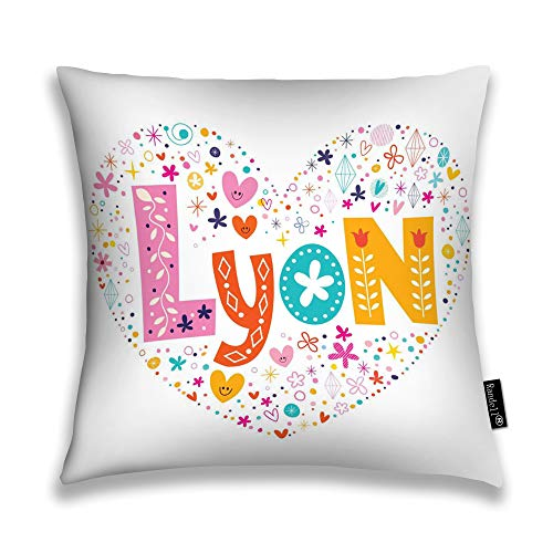 Randell Throw Pillow Covers Lyon Heart Shaped Type Home Decorative Throw Pillowcases Couch Cases 22
