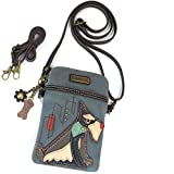 Chala Crossbody Cell Phone Purse - Women PU Leather Multicolor Handbag with Adjustable Strap (Indigo Schnauzer)