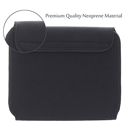 Electronics Organizer Case Bag, JOTO Travel Gear Management Organizer for Electronics Accessories Tools Cables Cosmetics Personal Care Kit with Sleeve Bag for Tablets iPad Laptops 10.1-Inch (Black)
