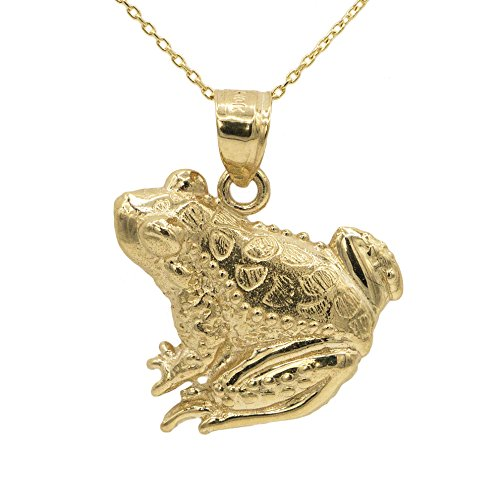 Yellow Gold Frog Pendant - 10k Yellow Gold Frog Pendant (18