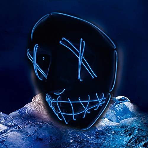 51GhCdjV8hL. AC  - ASON Halloween Scary Mask Cosplay Led Costume Mask