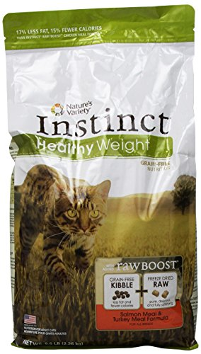 Instinct Grain-Free Healthy Weight Salmon Meal and Turkey Meal Formula Dry Cat Food 5.0 lb Bag