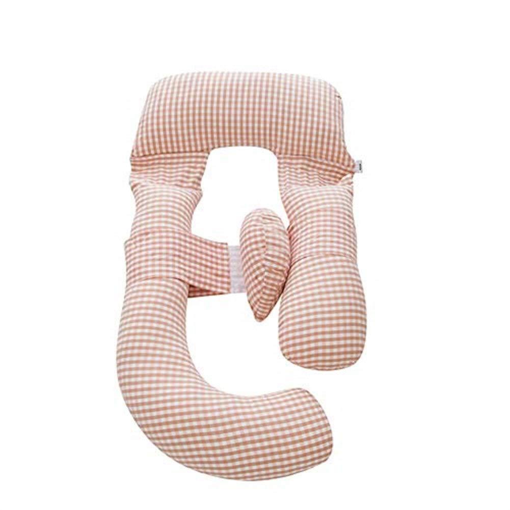 マタニティ枕妊娠中の女性のためのU字型ボディピロー 輪郭を描かれたU字型バックサポートを持つ妊娠中の女性のための妊娠枕ジッパーの取り外し可能なカバー耐久性のある等級が付いているG形の腹サポート B07SG3ZCW3