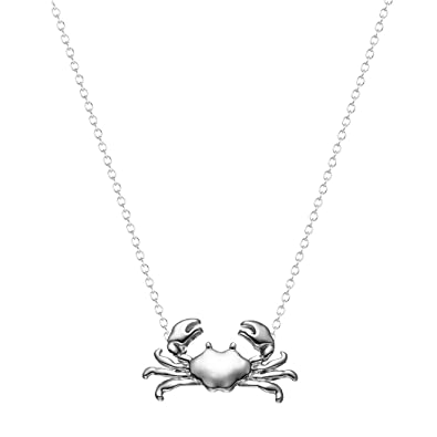 Amazon maryland crab necklace sea animal pendant jewelry for maryland crab necklace sea animal pendant jewelry for women and girls valentines day gift silver aloadofball Image collections