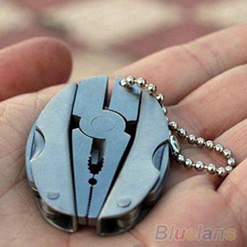 Pocket Multi Function Tools Set Mini Foldaway Keychain Pliers Knife Screwdriver - 7