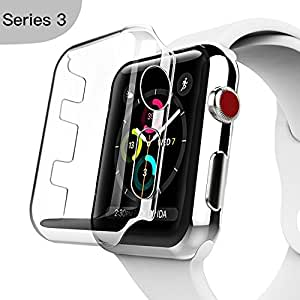 Apple Watch Series 3 Case, Benuo [Defender Series] Protective HD Clear PC Screen Protector [Ultra Thin], Lifetime Replacements Cover Case for Apple Watch Series 3/Edition/Nike+ 38mm