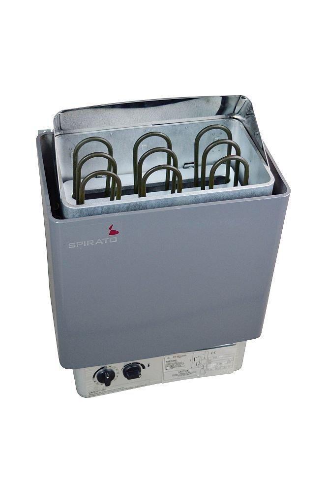 Poê le pour sauna 6 kW pour 380 V avec commande inté gré e SPIRATO