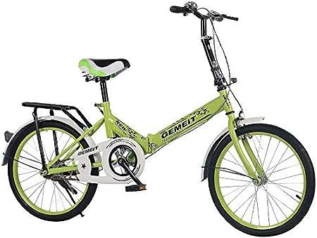 Bicicleta 20 Pulgadas Mini Plegable Ligera Portátil Pequeña Ultraligera Velocidad Variable Hombre Mujer Empleados De Oficina Carretera: Amazon.es: Hogar