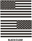 1 Pair Excellent Fashionable Black-Clear Subdued Flag Stickers Sign USA Tactical Military Home Size 4