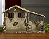 Three Kings Gifts Lighted Stable for Real Life Nativity,...