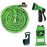 Expendable Garden Hose - 50 Ft Retractable, Lightweight & Flexible - 8 Pattern