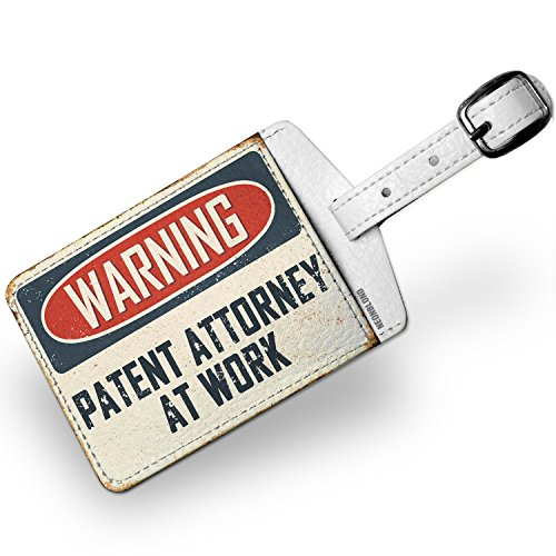 Luggage Tag Warning Patent Attorney At Work Vintage Fun Job Sign - - Luggage Patent Tag