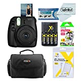 Fujifilm Instax Mini 8 Instant Film Camera With Fujifilm Instax Mini Instant Film Twin Pack (20 Sheets), Compact Bag Case, Batteries and Battery Charger (Black)