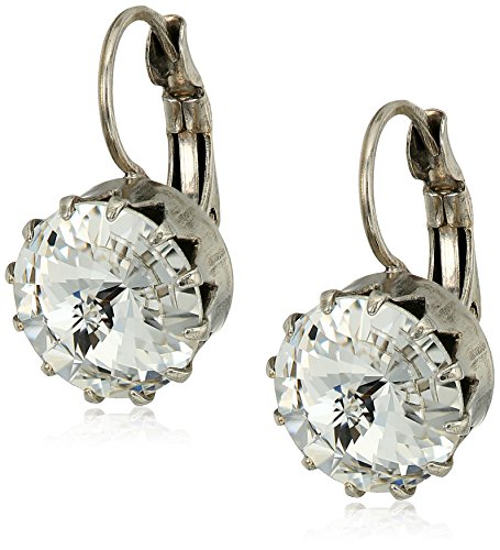 Sorrelli White Bridal Regal Rivoli Drop Earrings - Sorrelli White Earrings