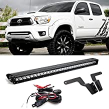 "iJDMTOY 30"" 150W High Power CREE LED Light Bar with Hidden Lower Bumper Insert Mounting Brackets and On/Off Switch Wiring Kit For 2005-2015 Toyota Tacoma"