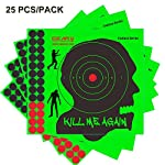 Neon Green Premium Grade Self Adhesive Shooting Targets Stickers-Zombie/Alien/UFO Shooting Target-Shots Burst Bright Fluorescent Green Upon Impact-Great for Long & Short Range Shooting