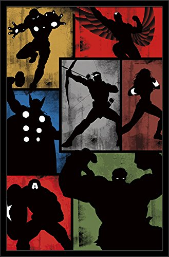 "Trends International Marvel Comics Avengers Simplistic Grid Wall Poster 22.375"" x 34"""