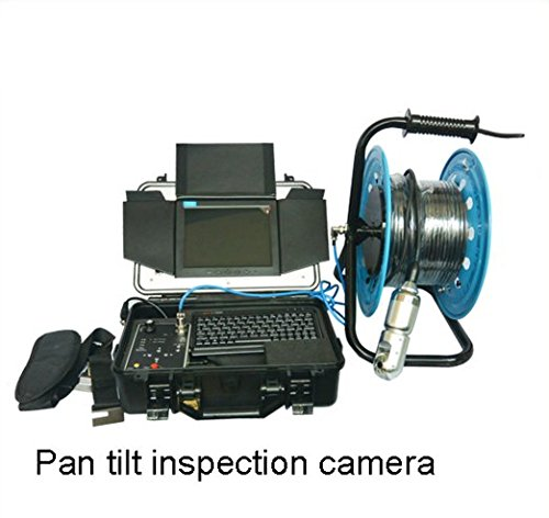 Chimney Inspection (MABELSTAR stainless steel 6pcs LED light pan and tilt 360 degree rotate chimney inspection camera with 30m cable reel)