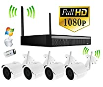 4 Camera - Wireless Home Video Surveillance Kit - 90ft Night Vision