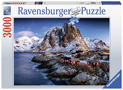 Ravensburger 17081 Hamnoy Lofoten - 3000 Piece Puzzle for Adults, Every Piece is Unique, Softclick Technology Means Pieces Fit Together Perfectly