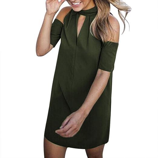 Yesmile 💋💝Vestido de Mujer Vestido Largo Partido Vestido Elegante de Noche para Boda Mini