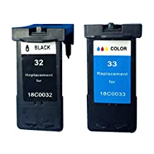 Superb Choice® Remanufactured ink Cartridge for Lexmark ILX32/33 (Black/Tri-Color) use in Lexmark X5250 Printer