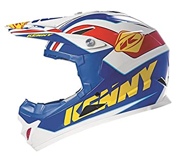 Casco integral KENNY ROCKET 2015, azul, amarillo y rojo-L