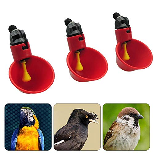 ASGV 1/3/5/10 Pack - Automatic Chicken Drinker Cups with PVC Pipe Mount - Self Operating Water Dispenser for Any Breed of Poultry (3)