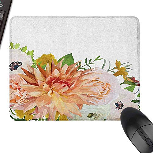 Wrist Comfort Mouse Pad,Anemone Flower,Laptop Desk Mat, Waterproof Desk Writing Pad,23.6
