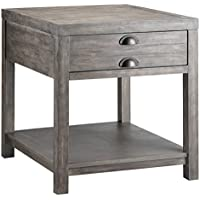 Stein World Furniture Bridgeport Rectangular End Table, Weathered Grey