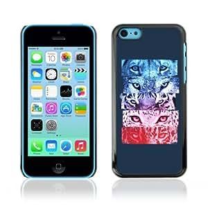 Designer Depo Hard Protection Case for Apple iPhone 5C / Cool Tiger Jaguar Cat Eyes