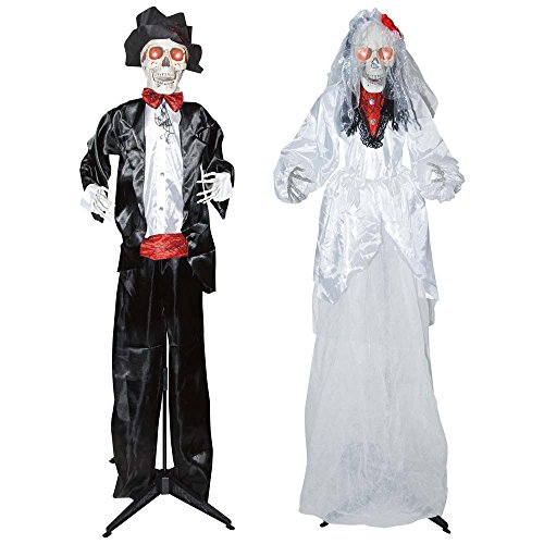 Sunstar -- Standing Animated Bride/Groom Set (Halloween Décor) -