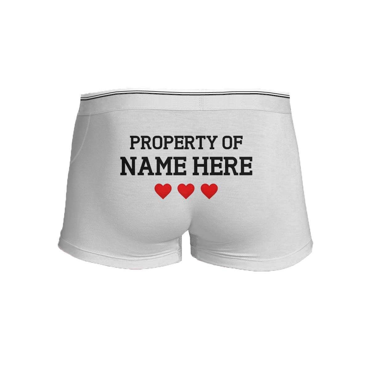 Property of Custom Name Mens Boxer Briefs Underwear