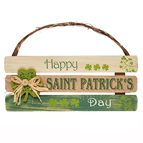 Happy saint Patrick's Day Wood Wall Hanging St. Patricks Day Shamrock Wall Hanging Decoration for Home or Office