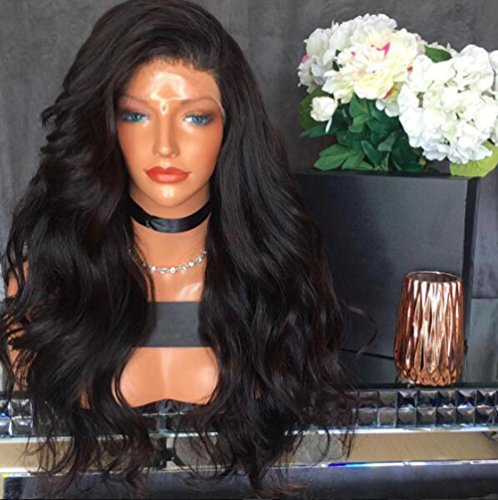 Berimy Hair 8A Glueless Full Lace Human Hair Wigs With Baby Hair Body Wave 130% Density Natural Black Brazilian Virgin Hair Bleached Knots Lace Front Wigs For Black Women Natural Color